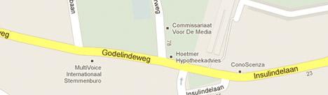 Kaart van de nabije omgeving van CvdM