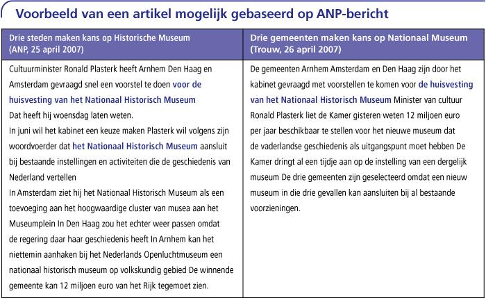 Voorbeeld van een artikel mogelijk gebaseerd op ANP-bericht
